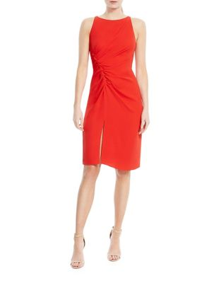 Pleated Sheath Dress by Calvin Klein