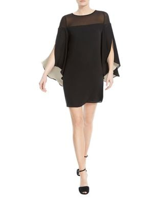 Butterfly Sleeved Shift Dress by Halston Heritage