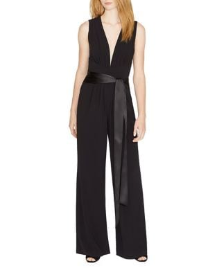 Solid Sleeveless Jumpsuit by Halston Heritage