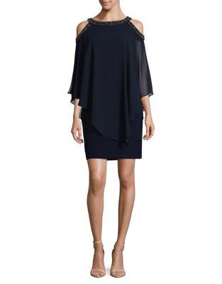 Embellished Chiffon Popover Dress by Xscape