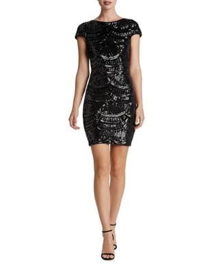 Scoopback Sequined Bodycon Dress by Dress The Population