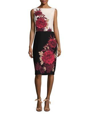 Floral Print Bodycon Dress by Gabby Skye
