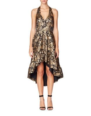 Halter Fit-and-Flare Dress by Nicole Miller