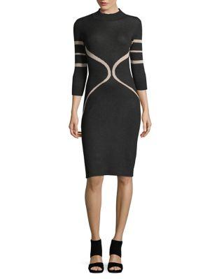 Contrast Print Bodycon Dress by Gabby Skye