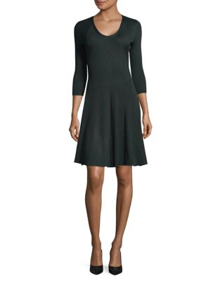 Photo of Ribbed Fit-&-Flare Dress by Gabby Skye - shop Gabby Skye dresses sales