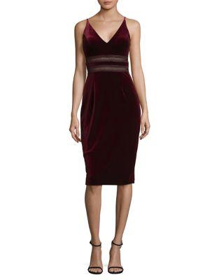 Sleeveless Velvet Dress by Xscape