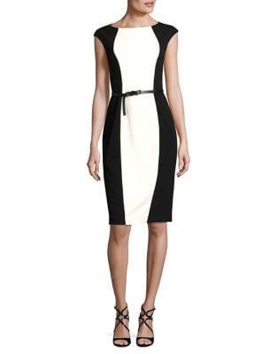 Colorblock Sheath Dress by Adrianna Papell