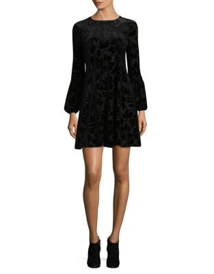 Velvet Long-Sleeve Sheath Dress by Taylor