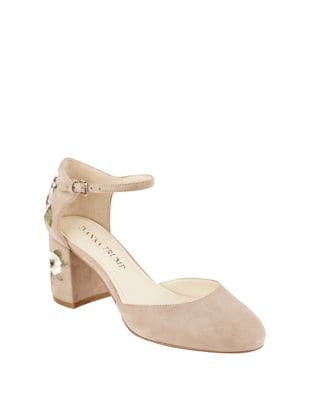 Flavia Suede Ankle-Strap Pumps by Ivanka Trump