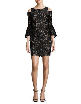 Petite Damask Lace Sheath Dress by Xscape