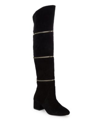 Zip Suede Over-the-Knee Boots by Botkier New York