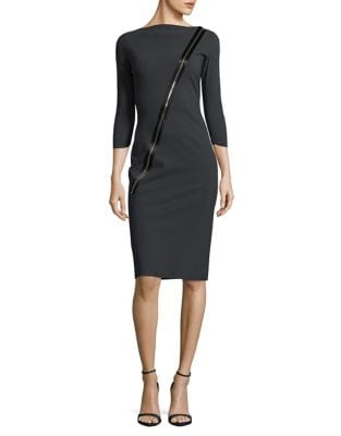 Three-Quarter Sleeve Sheath Dress by Chiara Boni La Petite Robe