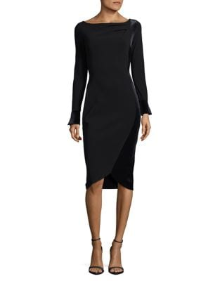 Long Sleeve Velvet Trim Dress by Chiara Boni La Petite Robe