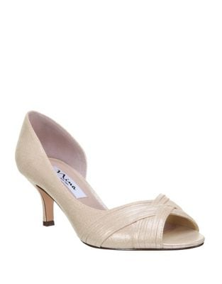 Contesa Open Toe Metallic Textile D'Orsay by Nina