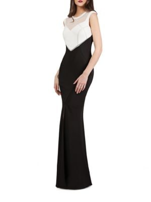 High-Contrast Illusion Gown by Js Collections