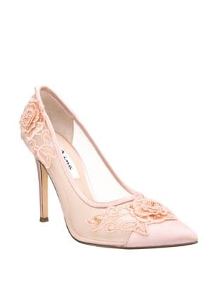 Donela Satin Mesh Pumps by Nina