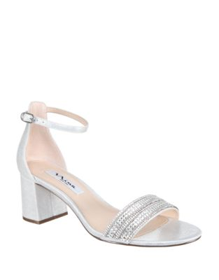 Elenora Faux Leather Ankle-Strap Sandals by Nina