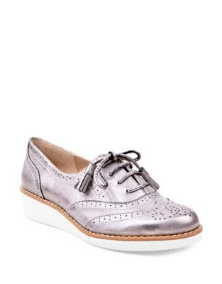 Trink Metallic Wingtip Oxfords by Adrienne Vittadini