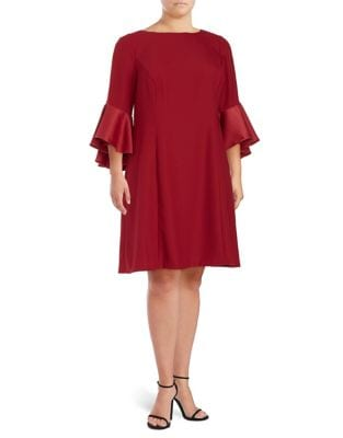 Plus Bell Sleeve Shift Dress by Adrianna Papell