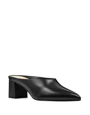 Helmer Leather Point Toe Mules by Nine West