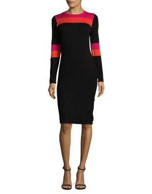 Contrast Sweater Dress by Eliza J