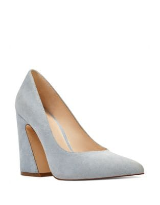 Henra Suede Block Heel Pumps by Nine West