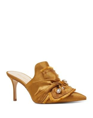 Macadamia Embellished Mules by Nine West