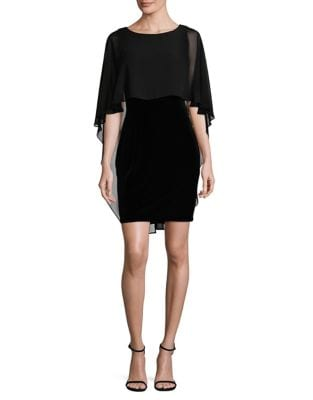 Chiffon Cape Dress by Vince Camuto
