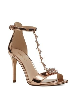 Mimosina Embellished T-Strap Dress Sandals by Nine West