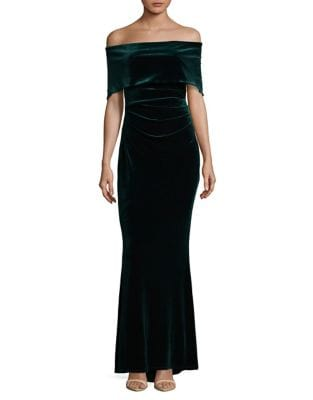 Off-The-Shoulder Velvet Gown by Vince Camuto