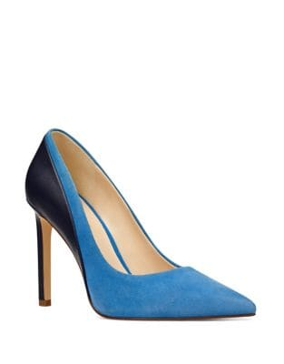 Taymra Leather and Suede Pumps by Nine West