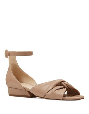 Lumsi Leather Dress Sandals by Nine West