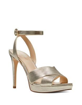 Quisha Metallic Leather Dress Sandals by Nine West