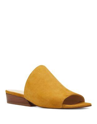 Lynneah Suede Slide Sandals by Nine West
