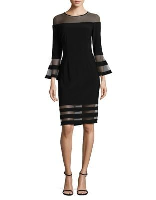 Bell Sleeve Mesh Dress by Betsy & Adam