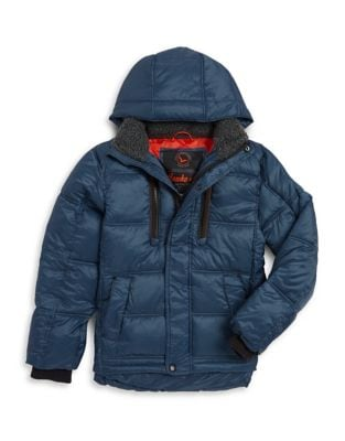 Boy's Hooded Quilted Puffer Jacket 500087605888