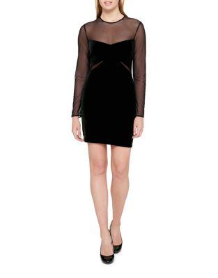 Velvet Mesh Mini Dress by Guess