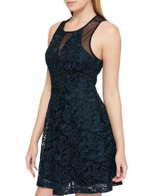 Lace Fit-&-Flare Dress by Guess