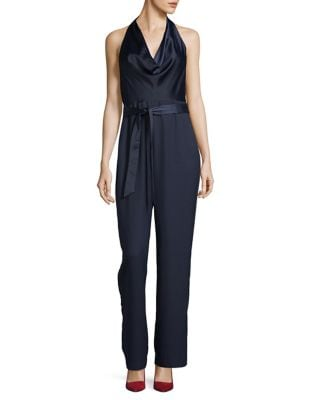 Halter Cowlneck Self-Tie Jumpsuit by Eliza J