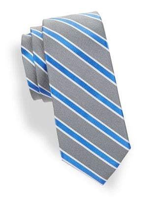 Boy's Repp Stripe Silk...