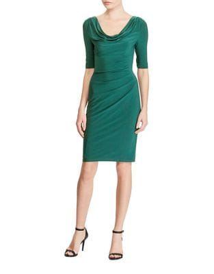 Petite Cowl Sheath Dress by Lauren Ralph Lauren