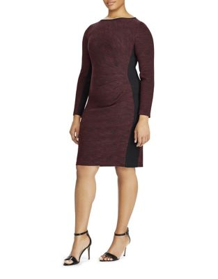 Plus Two-Tone Sheath Dress by Lauren Ralph Lauren