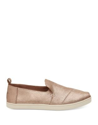 Metallic Deconstructed Cupsole Alpargata Flats by TOMS