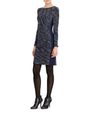 Petite Two-Tone Sheath Dress by Lauren Ralph Lauren