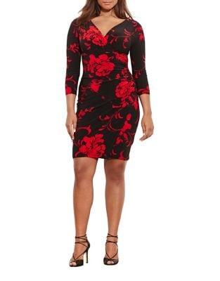 Photo of Plus Floral Sheath Dress by Lauren Ralph Lauren - shop Lauren Ralph Lauren dresses sales