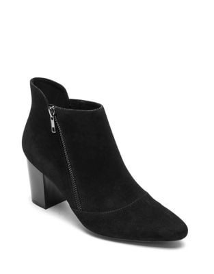 Gail Zip Suede Booties by Rockport