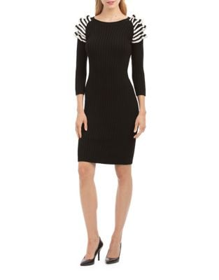 Three-Quarter Sleeve Sweater Dress by Nicole Miller New York