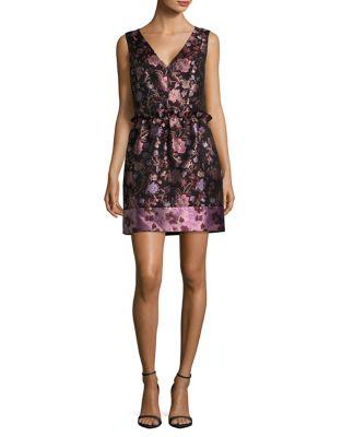Floral Jacquard Dress by Alexia Admor