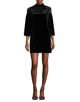 Three-Quarter Sleeve Velvet Dress by Laundry by Shelli Segal