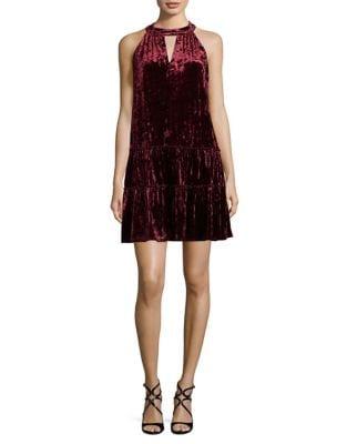 Halterneck Velvet Dress by Laundry by Shelli Segal